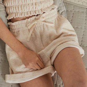 NWOT Anthropologie Cynthia Smocked Lounge Shorts